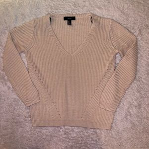 Forever 21 Cream Cable Knit Sweater